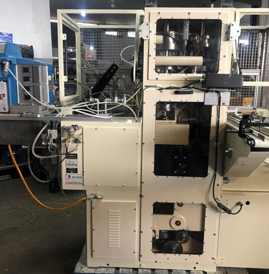 ACMA Model TF1 Tray Forming & Filling Machine with Nordson Gluing System